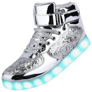 Unisex LED shoes high top light up sneakers